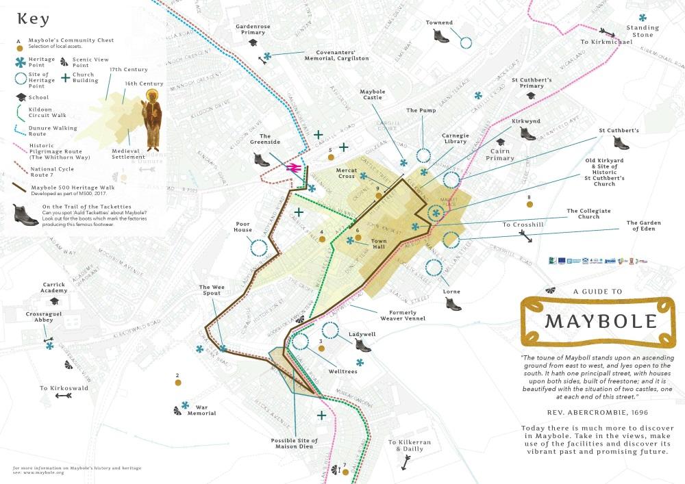 Maybole 500 Map