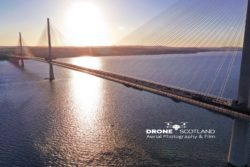 Queensferry Crossing by Drone Scotland