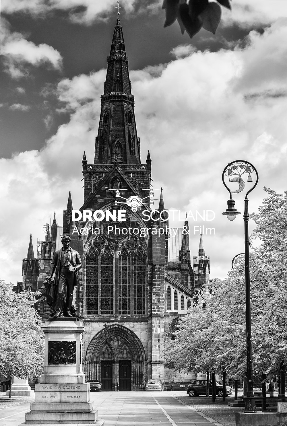 Glasgow Cathedral Image from a Drone 1