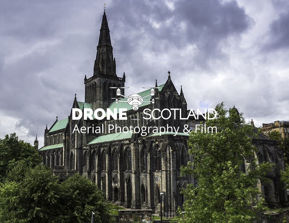 Glasgow Cathedral Image from a Drone 2