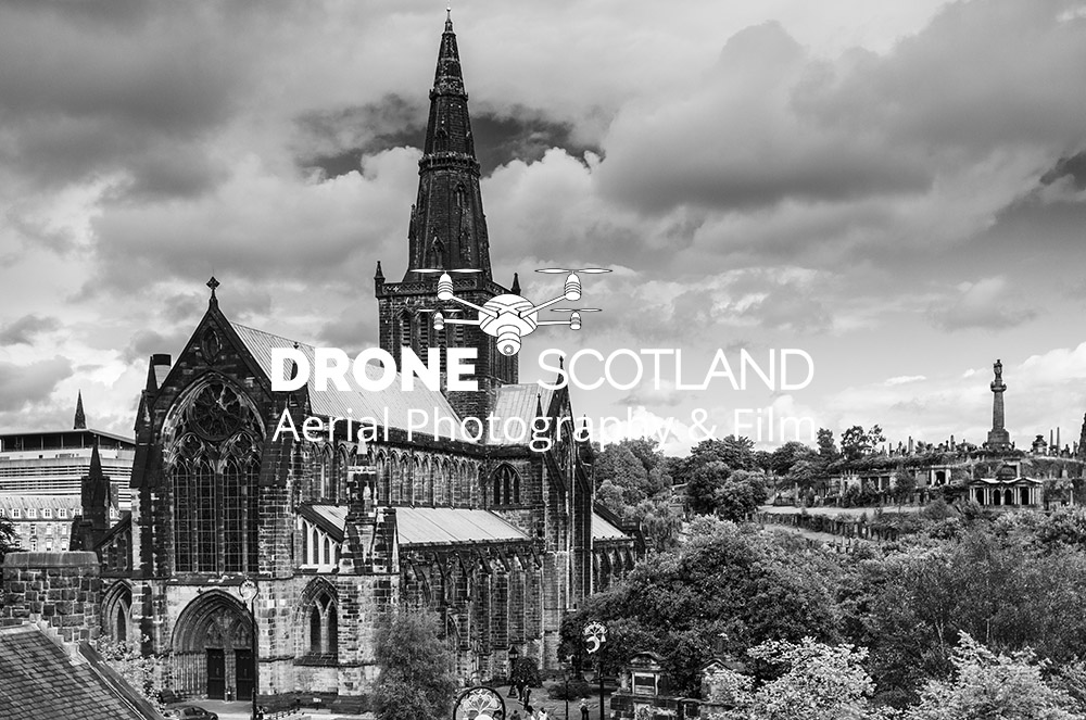 Glasgow Cathedral Image from a Drone 3
