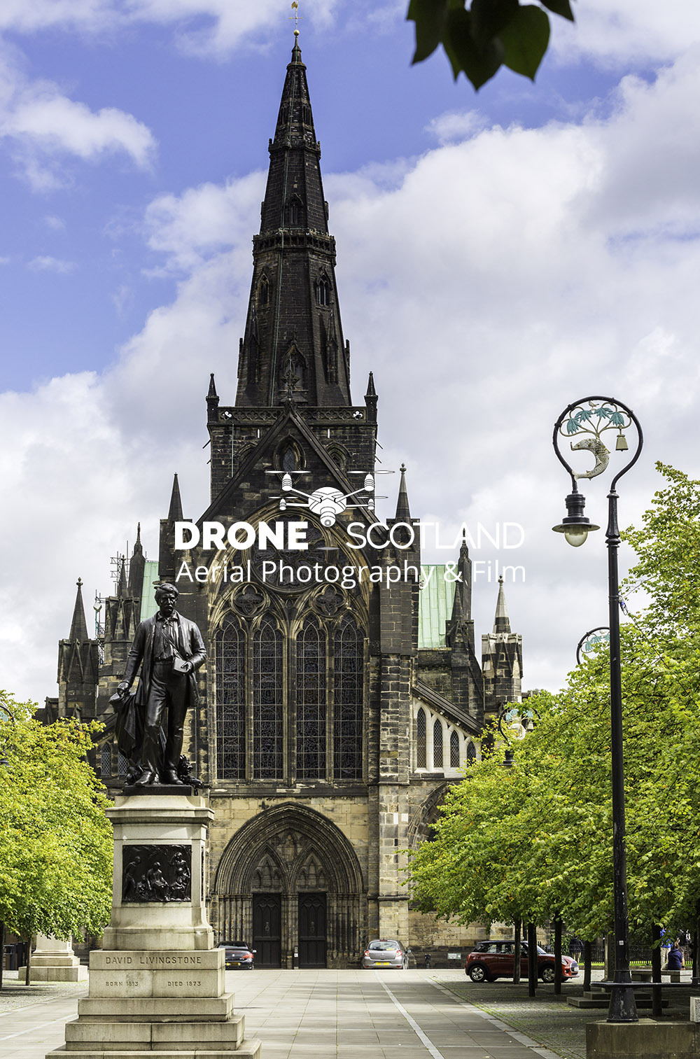 Glasgow Cathedral Image from a Drone 4