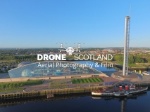 Drone Scotland Science Centre
