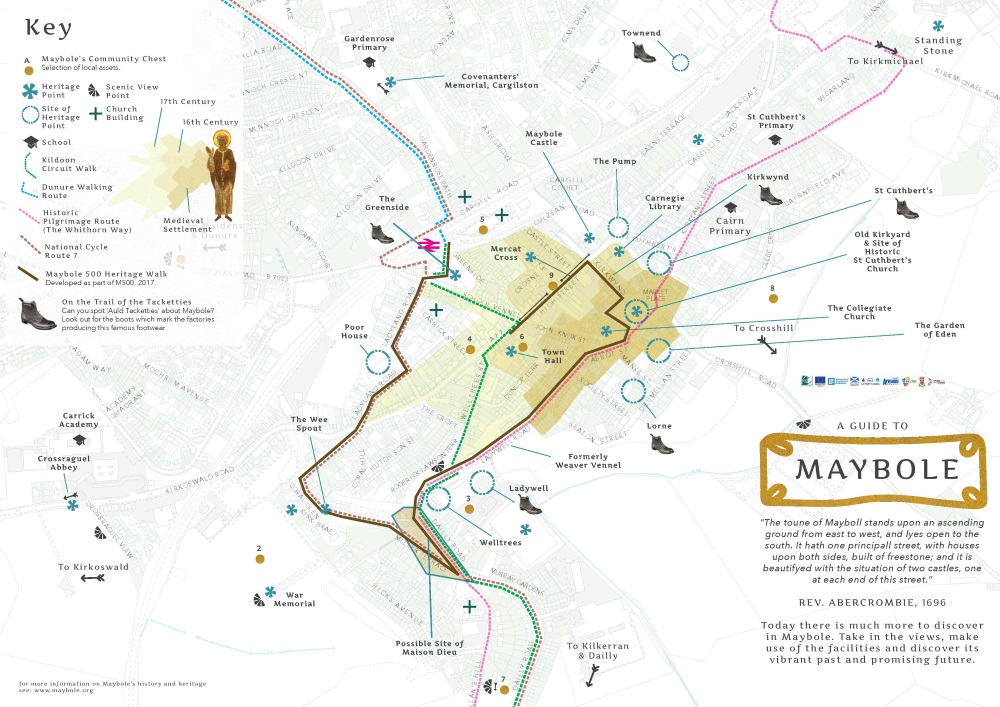 Maybole 500 Map