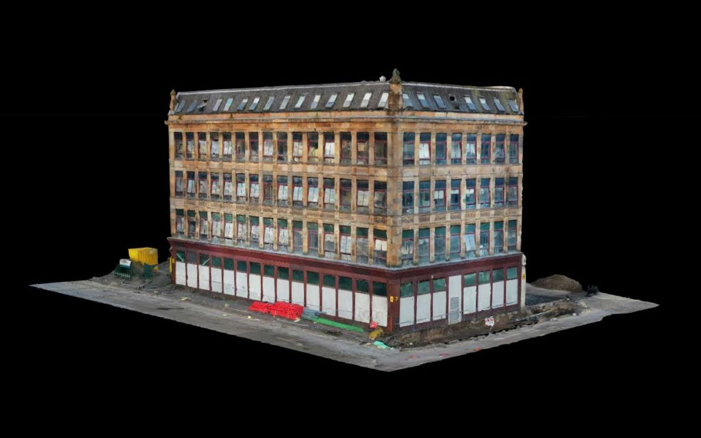 3d model from aerial building inspection