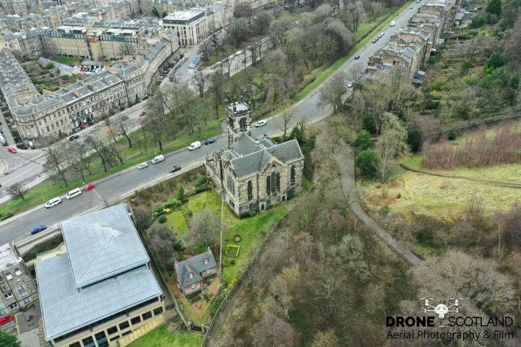 Drone Scotland - Drone Edinburgh City Centre